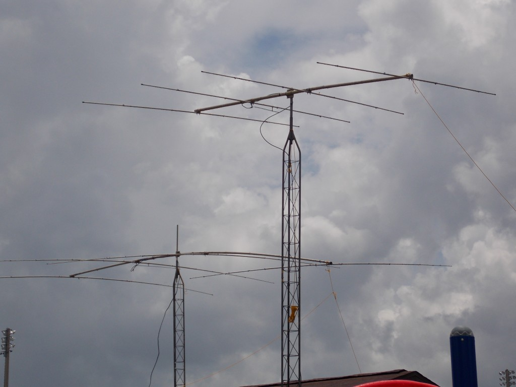 Two antennas used for Field Day Comminications